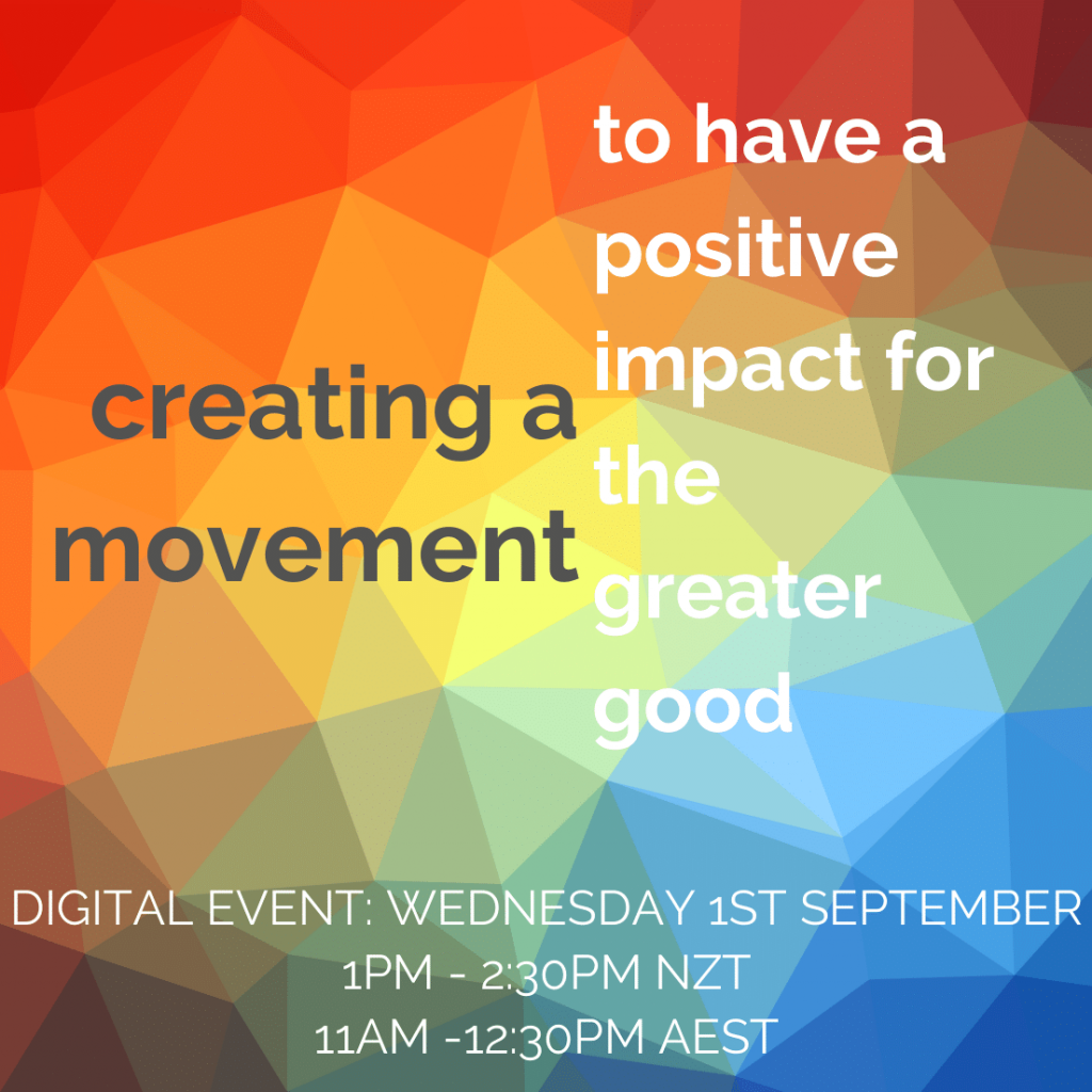 Creating A Movement: to have a positive impact for the greater good